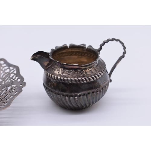 110 - <strong>A Victorian silver cream jug</strong>, by <em>George Nathan &</em> <em>Ridley Hayes,</em...