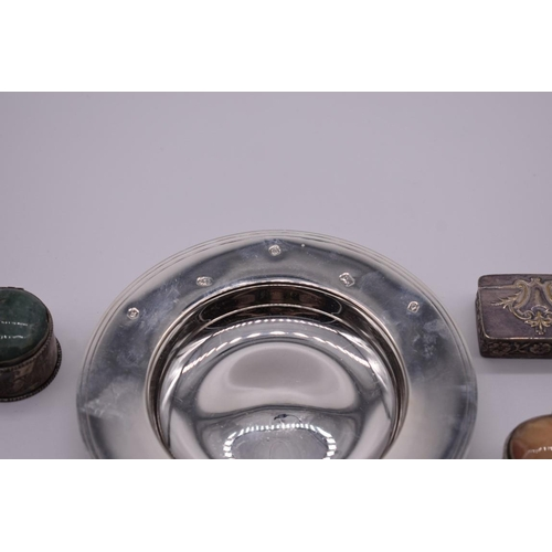 111 - <strong>A boxed silver Armada dish,</strong> by <em>Carr's of Sheffield</em> <em>Ltd,</em>Sheffield...