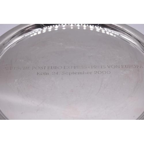 132 - <strong>A German white metal tray</strong>, by <em>Hermann Emil-Waldstetten</em>, Baden-Württemberg,...