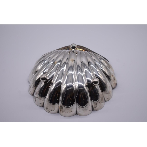 14 - <strong>An Edwardian silver shell shaped fruit bowl,</strong> by <em>Atkin Brothers, </em>Sheffield ...