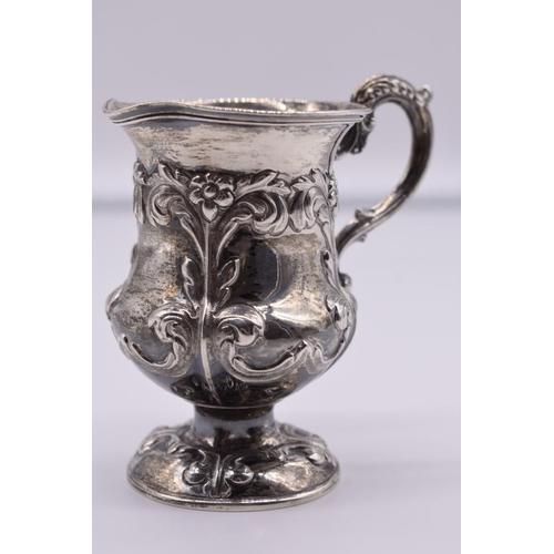 22 - <strong>A Victorian silver baluster jug, </strong>by <em>John Evans II, </em>London 1838, 9.5cm high...
