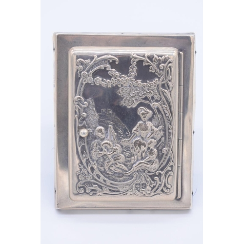 27 - <strong>An unusual Victorian silver enclosed photograph frame, </strong>by <em>William Comyns & ...