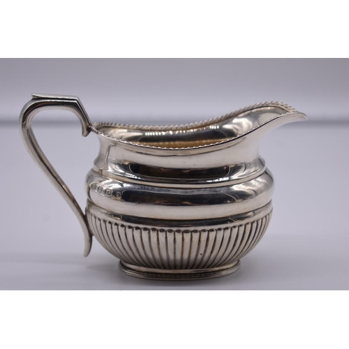 34 - <strong>A Victorian silver three piece tea & coffee set, </strong>by <em>Harrison Brothers &...