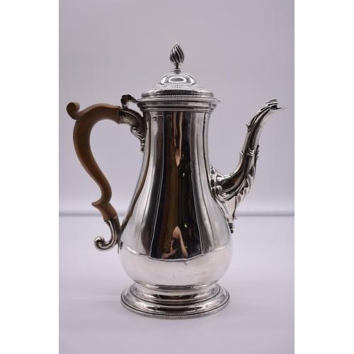37 - <strong>A George III silver coffee pot</strong>, by <em>Daniel Smith & Robert Sharp, </em>London...