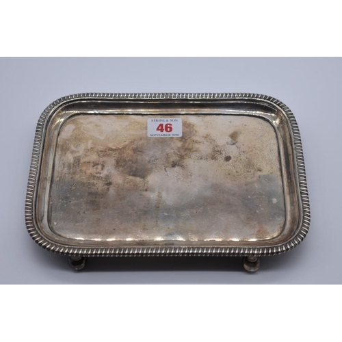 46 - <strong>A George III silver rectangular waiter, </strong>by <em>Thomas Hannam & John Crouch II, ...