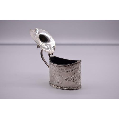 7 - <strong>A George III silver oval mustard, </strong>probably by <em>Charles</em> <em>Chesterman II, <...