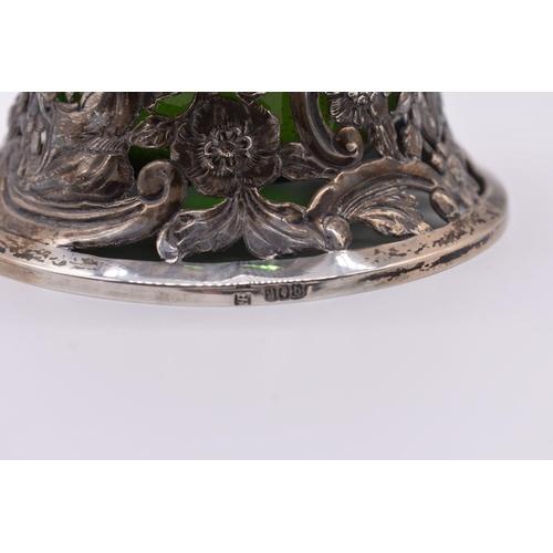 9 - <strong>An Irish pierced silver dish ring,</strong> by<em>Edmund Johnson Ltd, </em>Dublin 1917, wit...