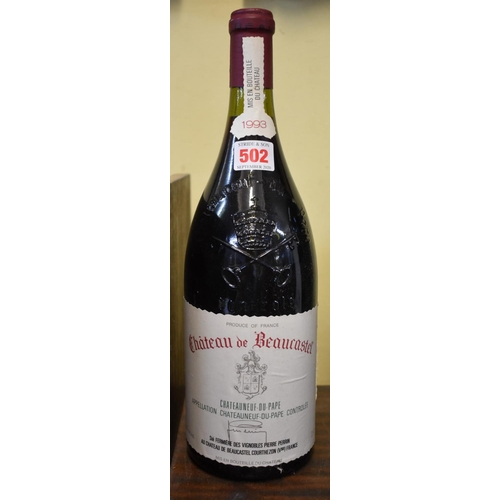 502 - <strong>A 150cl magnum of Chateauneuf du Pape Chateau de Beaucastel, 1993, </strong>Perrin. (1)...