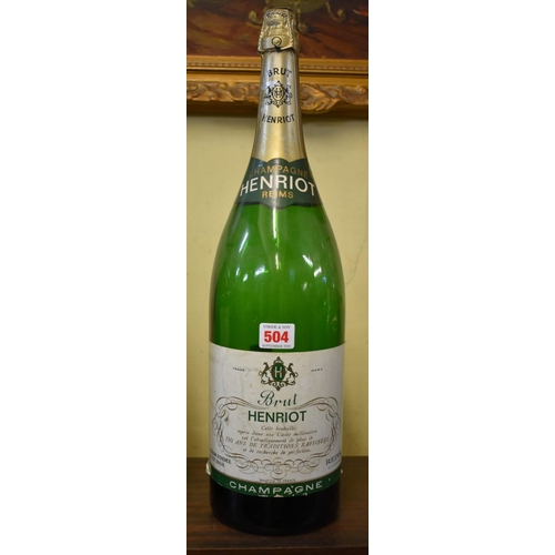 504 - <strong>A 300cl double magnum Henriot champagne display bottle</strong>, (no contents)....