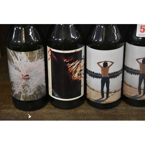 507 - <strong>Six 27.5cl bottles of Beck's limited edition 'contemporary art' label lager,</strong>c...