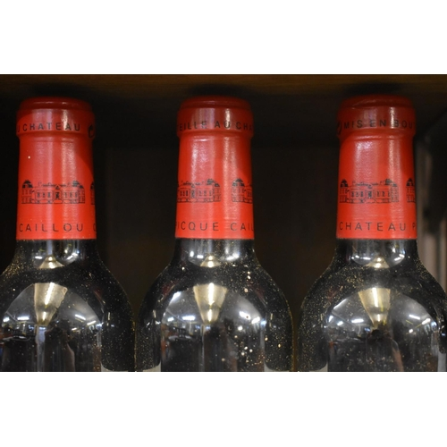510 - <strong>Three 37.5cl bottles of Chateau Picque Caillou, 2000, </strong>Pessac-Leognan. (3)...