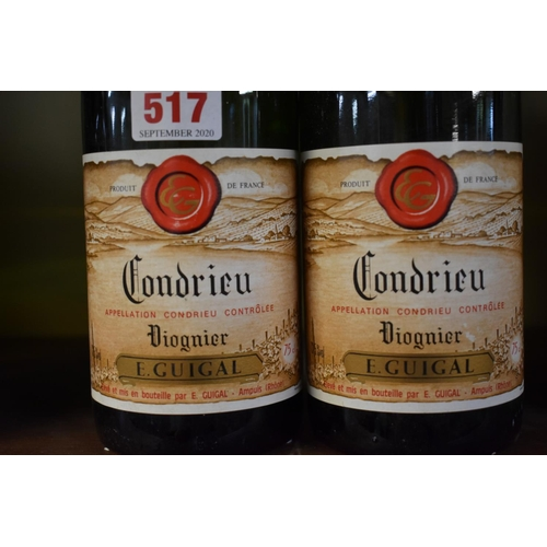 517 - <strong>Two 75cl bottles of Condrieu, 1989,</strong>Etienne Guigal. (2)...