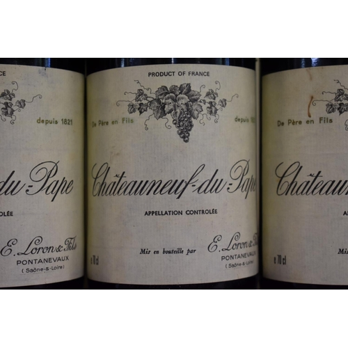 533 - <strong>Three 75cl bottles of Chateauneuf du Pape, 1983,</strong>Ets Loron. (3)...