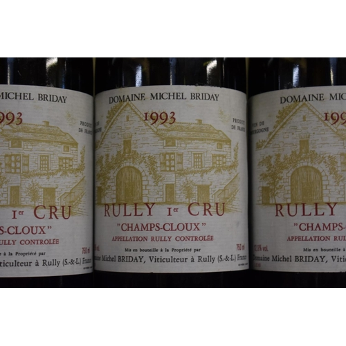 534 - <strong>Three 75cl bottles of Rully Champs Cloux, 1993, </strong>Michel Briday. (3)...