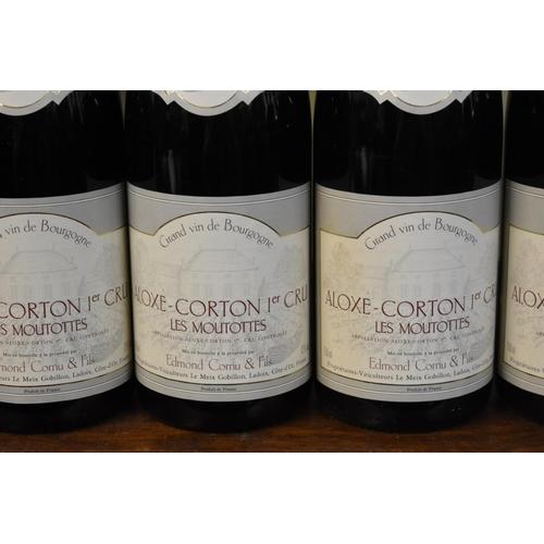 538 - <strong>Six 75cl bottles of Aloxe Corton Les Moutottes, 1996,</strong>Edmond Cornu. (6)<br /><...