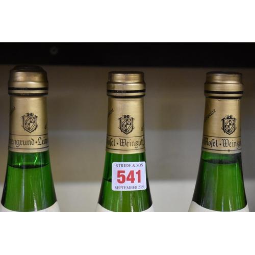 541 - <strong>Three 75cl bottles of Leiwener Laurentiuslay Auslese, 1970,</strong>Josefinengrund. (3...