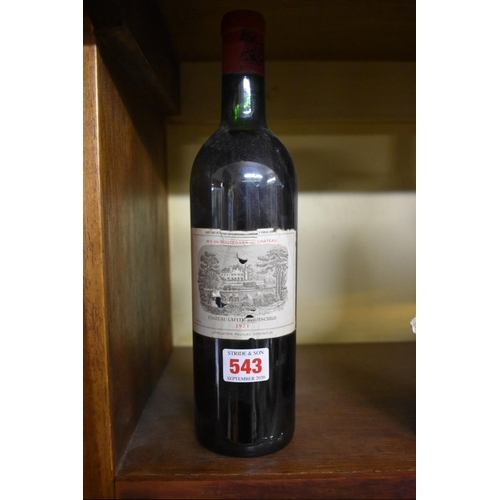 543 - <strong>A 75cl bottle of Chateau Lafite Rothschild 1971.</strong>...