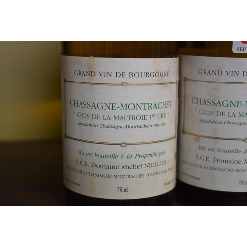 545 - <strong>Two 75cl bottles of Chassagne-Montrachet 1er Cru Clos de la Maltroie, 1999, </strong>M ...