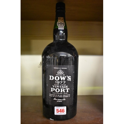 546 - <strong>A 150cl magnum of Dow's vintage port, 1977,</strong>(1)...