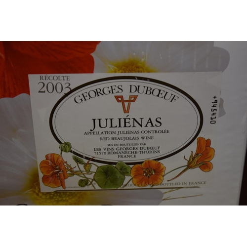598 - <strong>Six 75cl bottles of Julienas, 2003, </strong>Georges Duboeuf, in oc. (6)...