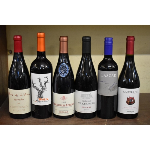 603 - <strong>Six 75cl bottles of red wine</strong>. (6)...