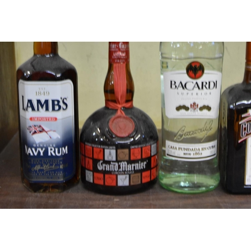 608 - <strong>A mixed lot of spirits,</strong> to include: a 70cl Grand Marnier; and a 70cl Cointreau. (6)...