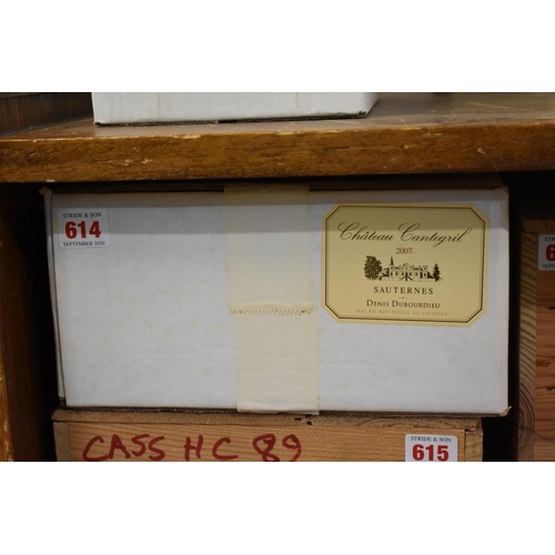614 - <strong>A case of twelve 37.5cl bottles of Chateau Cantegril, 2007,</strong>Barsac, in oc. (12...