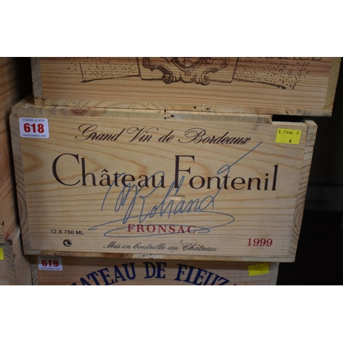 618 - <strong>A case of twelve 75cl bottles of Chateau Fontenil, 1999,</strong>Fronsac, in owc. (12)...
