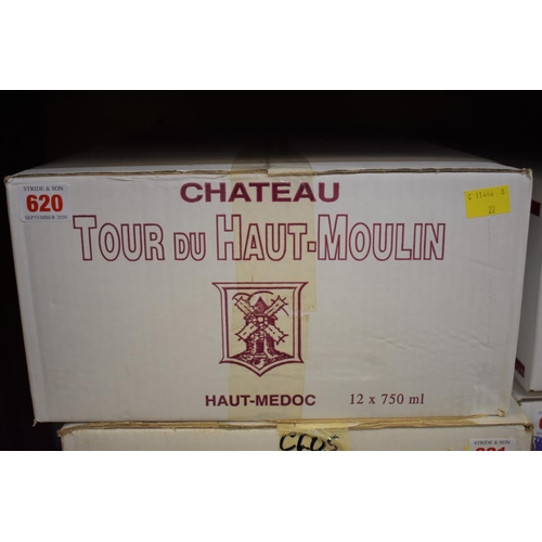 620 - <strong>A case of twelve 75cl bottles of Chateau Tour du Haut-Moulin, 2005, </strong>Cru Bourge...
