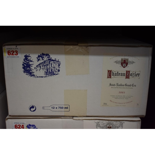 623 - <strong>A case of twelve 75cl bottles of Chateau Rozier, 2005,</strong>Grand Cru St Emilion, i...