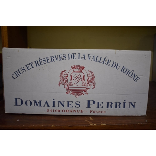 626 - <strong>A case of twelve 75cl bottles of Crozes Hermitage, 1999,</strong>Perrin Freres, in oc....