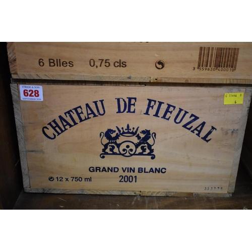 628 - <strong>A case of twelve 75cl bottles of Chateau de Fieuzal Blanc, 2001,</strong>Pessac-Leogna...