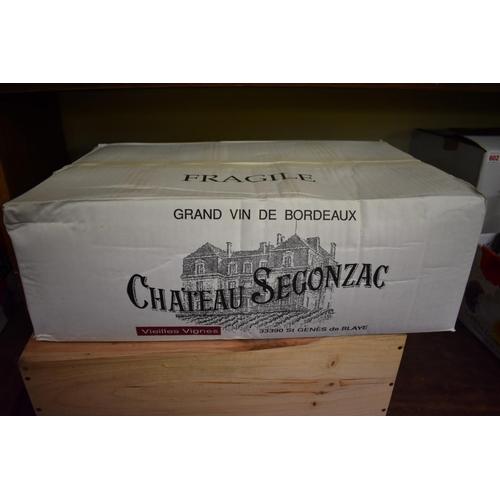 630 - <strong>A case of twelve 75cl bottles of Chateau Segonzac Vieilles Vignes, 1998,</strong>Cote ...