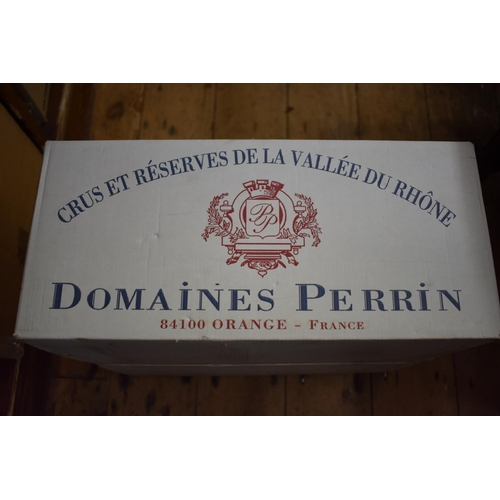 633 - <strong>A case of twelve 75cl bottles of Vacqueyras, 1999,</strong>Perrin Freres, in oc. (12)<...