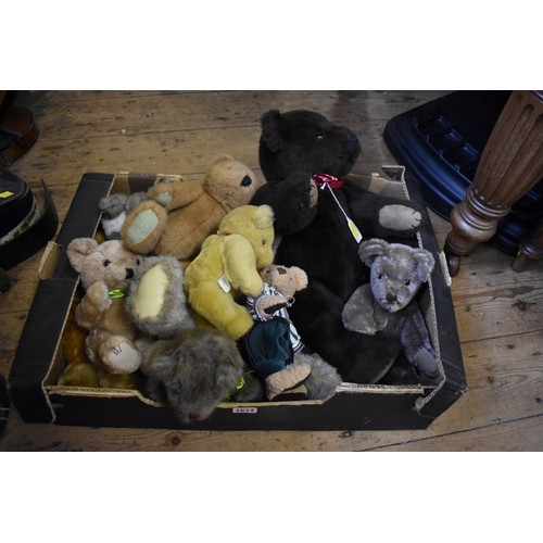 1674 - <strong>A collection of ten teddy bears,</strong> to include, a vintage golden mohair example, with ...