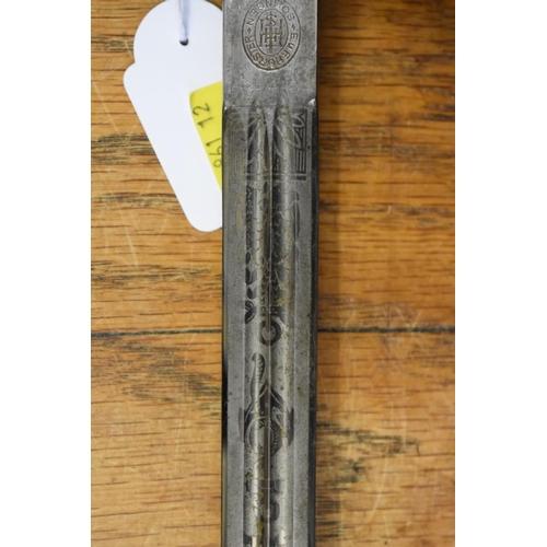 1771 - <strong>A World War II German Kriegsmarine officer's dagger and brass sheath</strong>, by E F Horste...
