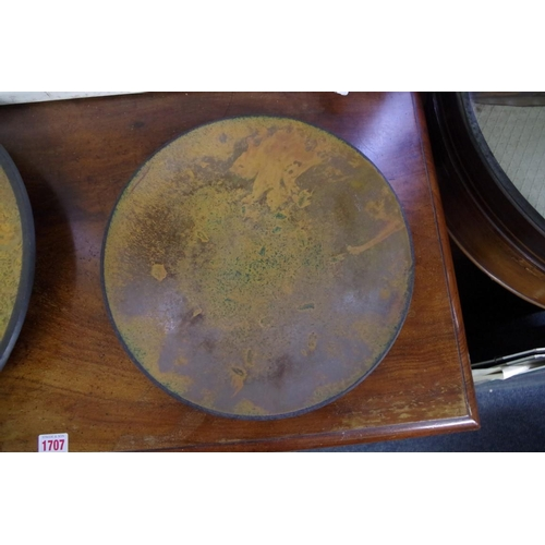1423 - Studio Pottery:anAndrew Hill copper raku charger, 43cm diameter; together with another s...