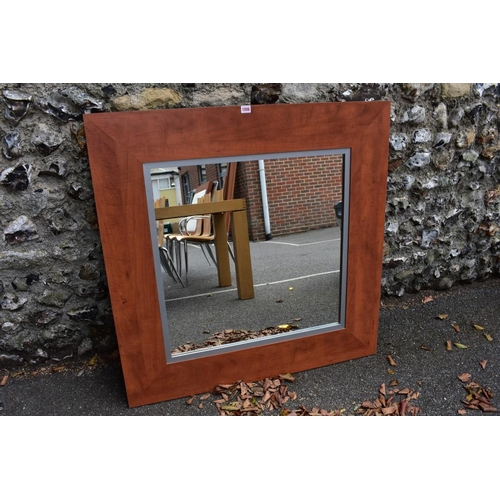 1006 - A modern wall mirror, 102 x 102cm. <strong>This lot can only be collected on Saturday 10th October. ...