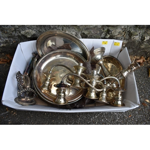 1010 - A quantity of silver plate.<strong>This lot can only be collected on Saturday 10th October. (10-2pm...