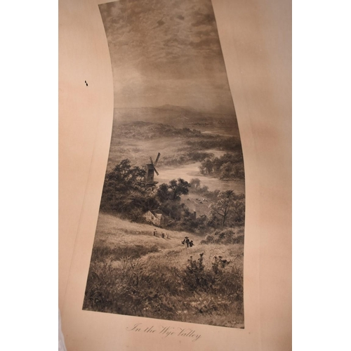 1017 - A print 'In the Wye Valley'; together with another print; and a portrait print of The Duke of Wellin...