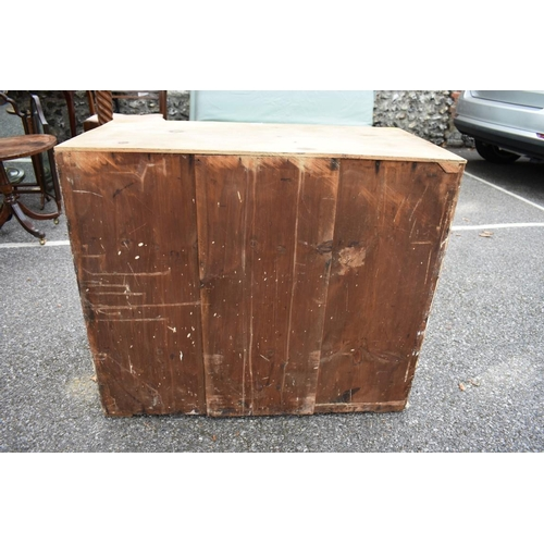 1021 - An antique pine chest of drawers, 80cm wide. <strong>This lot can only be collected on Saturday 10th...