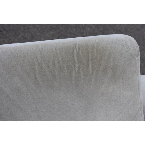 1025 - A pair of grey upholstered armchairs, by Avant Garde, Leroy, 100cm wide x 90cm deep. <strong>This lo...