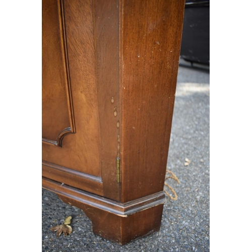 1028 - A reproduction mahogany standing corner cupboard.<strong>This lot can only be collected on Saturday...