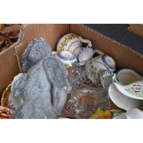 1039 - Two boxes of sundry china and glassware.<strong>This lot can only be collected on Saturday 10th Oct...