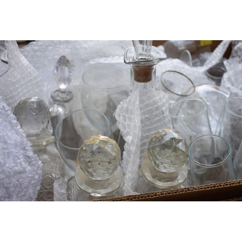 1050 - A quantity of glassware; to include decanters.This lot can only be collected on Saturday 10th Octob...