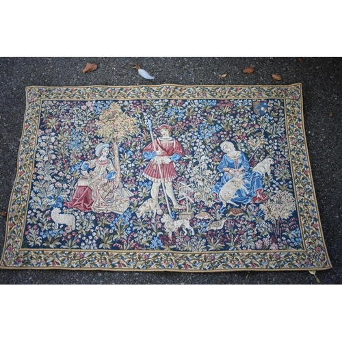 1060a - A modern classical tapestry of maidens, 104 x 69cm.<strong>This lot can only be collected on Saturd...