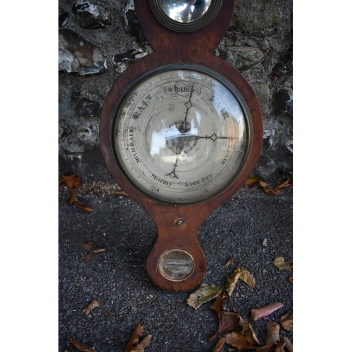 1067 - An mahogany barometer, 95cm high. <strong>This lot can only be collected on Saturday 10th October. (...