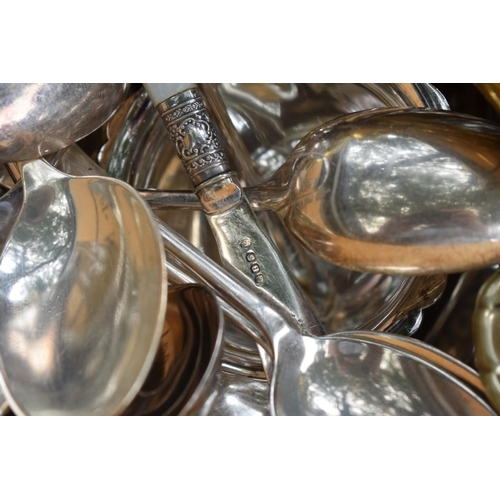 1107 - A quantity of plate and sundry other metalware.<br /><strong>This lot can only be collected on Satur...