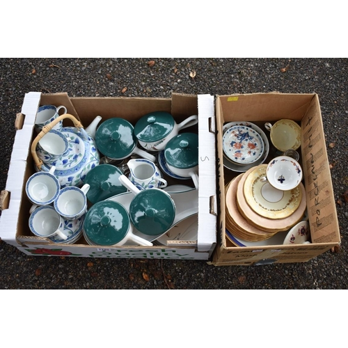 1125 - A quantity of china, to include Denby 'Wheatsheaf' pattern part tea and dinnerwares. This lot can on...