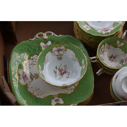 1126 - A Coalport part tea service. This lot can only be collected on Saturday 10th October (10-2pm)...